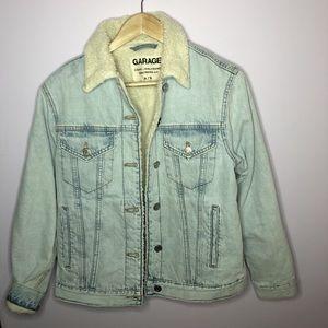 Sherpa lined jean jacket